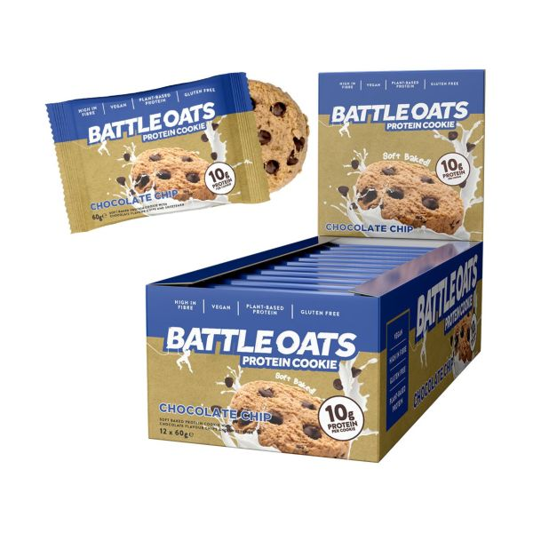 Battle Oats Double Chocolate Chip Protein Cookie 60g x 12