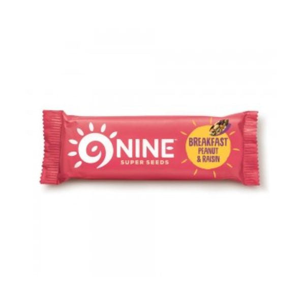 9Nine Breakfast Peanut & Raisin 50g x 16