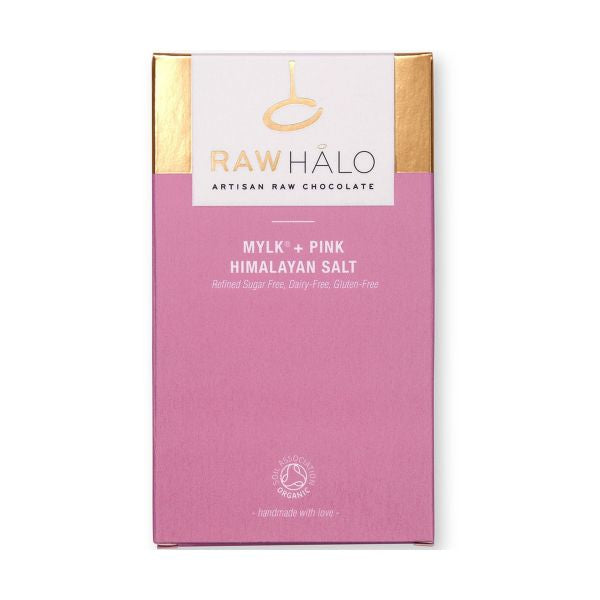 Raw Halo Mylk+ Pink Salt Organic Raw Chocolate Bar 35g x 20