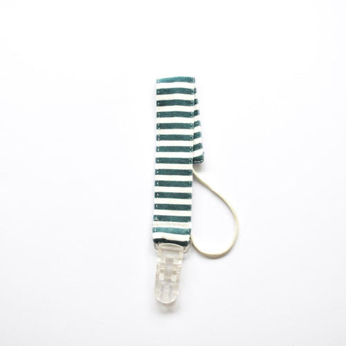 Pair of Dummy Clips - Heaven Stripes Green