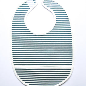 Coated Bib - Heaven Stripes Green