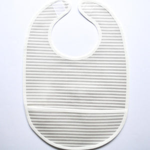 Coated Bib - Heaven Stripes Grey