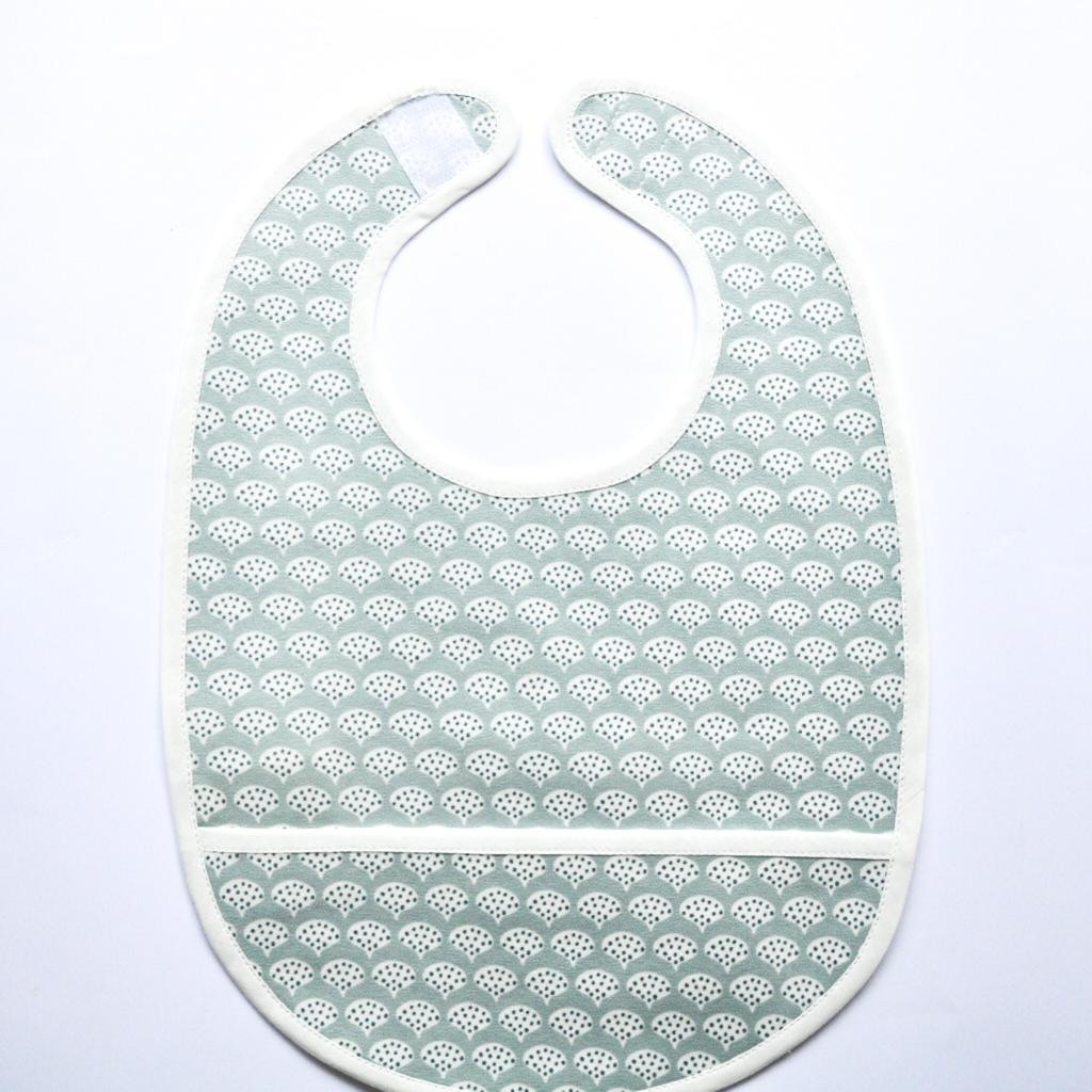 Coated Bib - Shiny Peacock Green