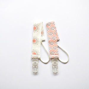 Pair of Dummy Clips - Shiny Peacocks Pink