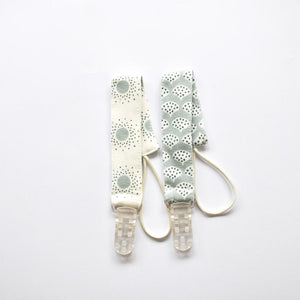 Pair of Dummy Clips - Shiny Peacocks Green