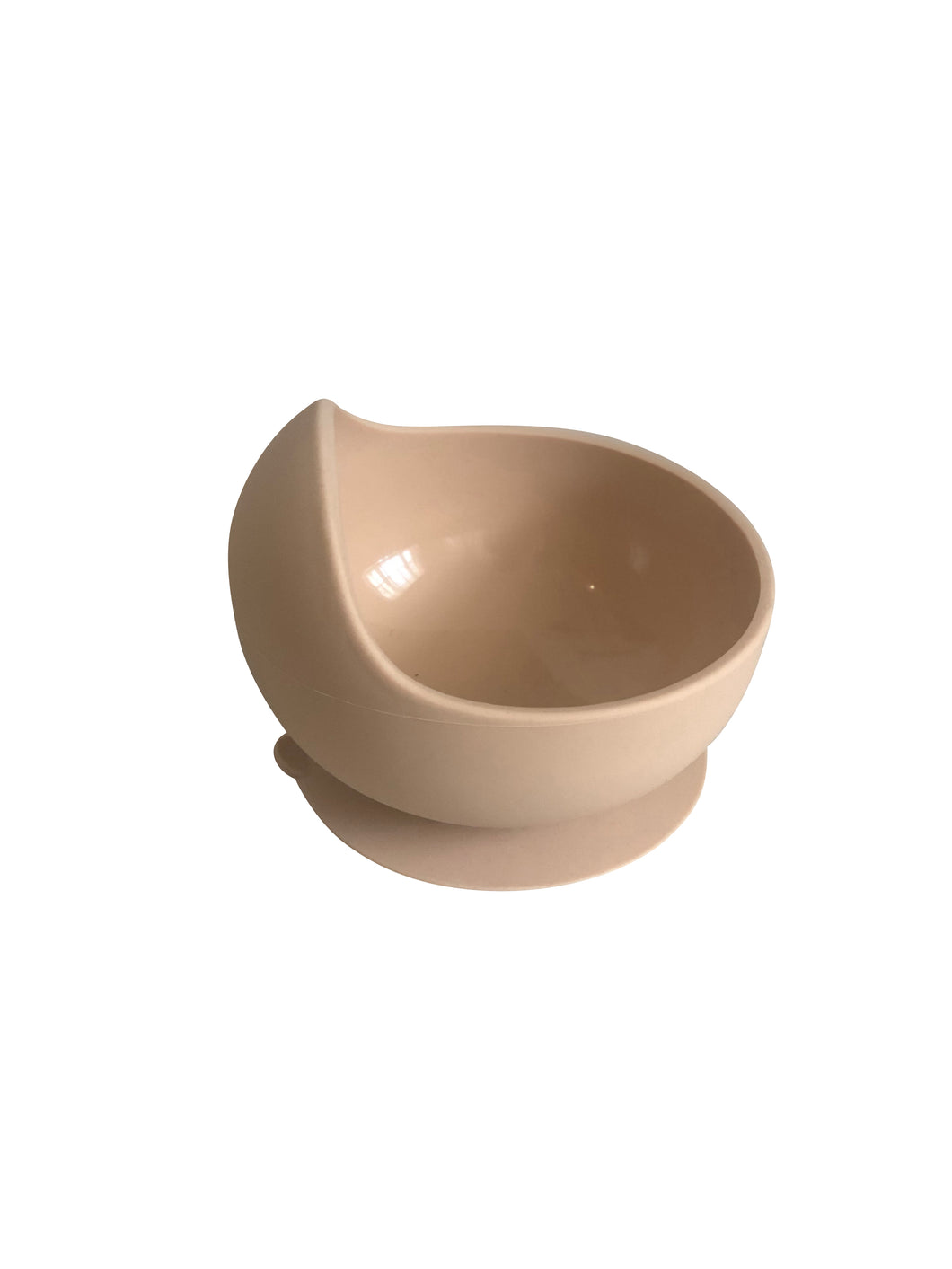 Silicone suction bowl - Peach