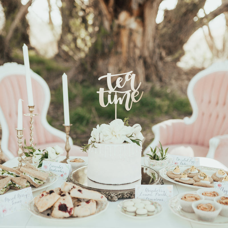 Tea party refreshment table and decor