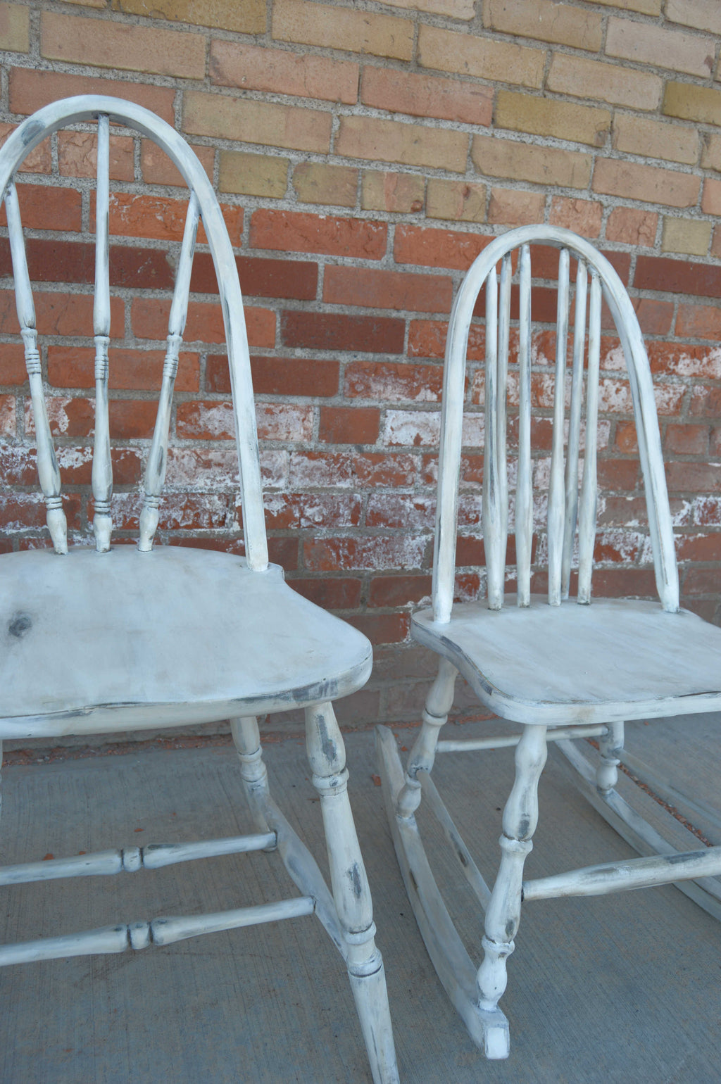 Antique white refinished chairs