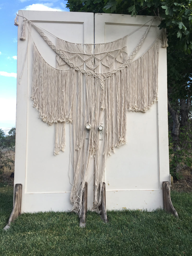 Large bohemian macrame hanging decor