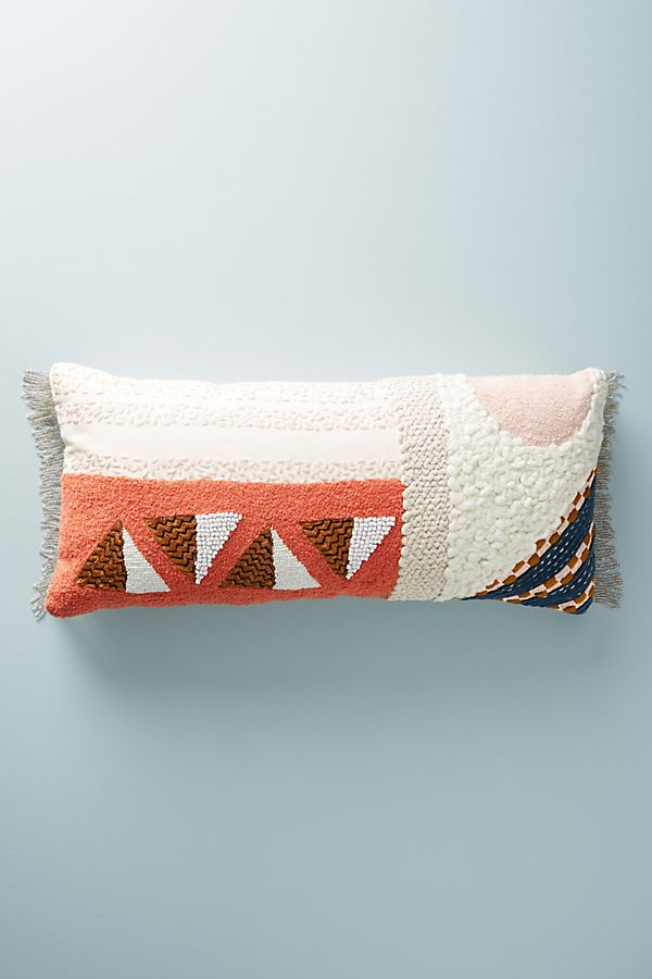 Multi colored geometric pillow