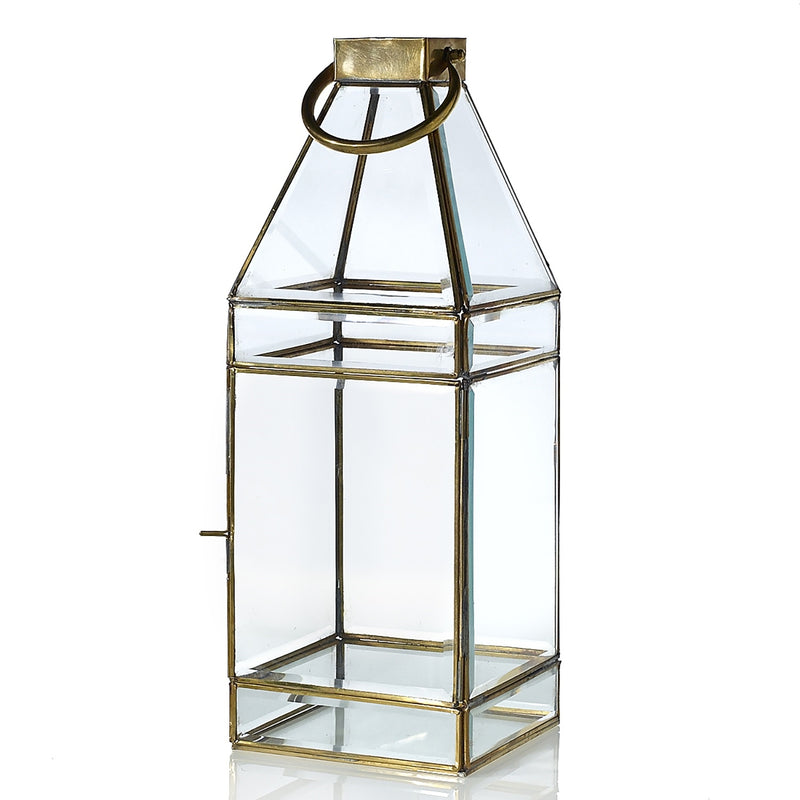 Glass and gold lantern