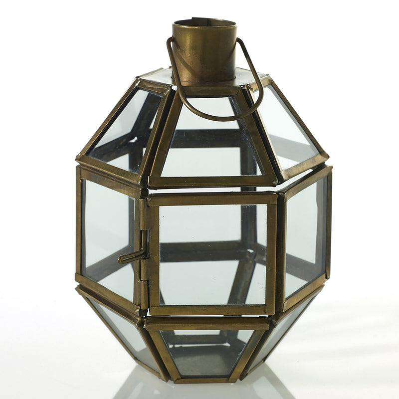 Antique gold geometric lantern