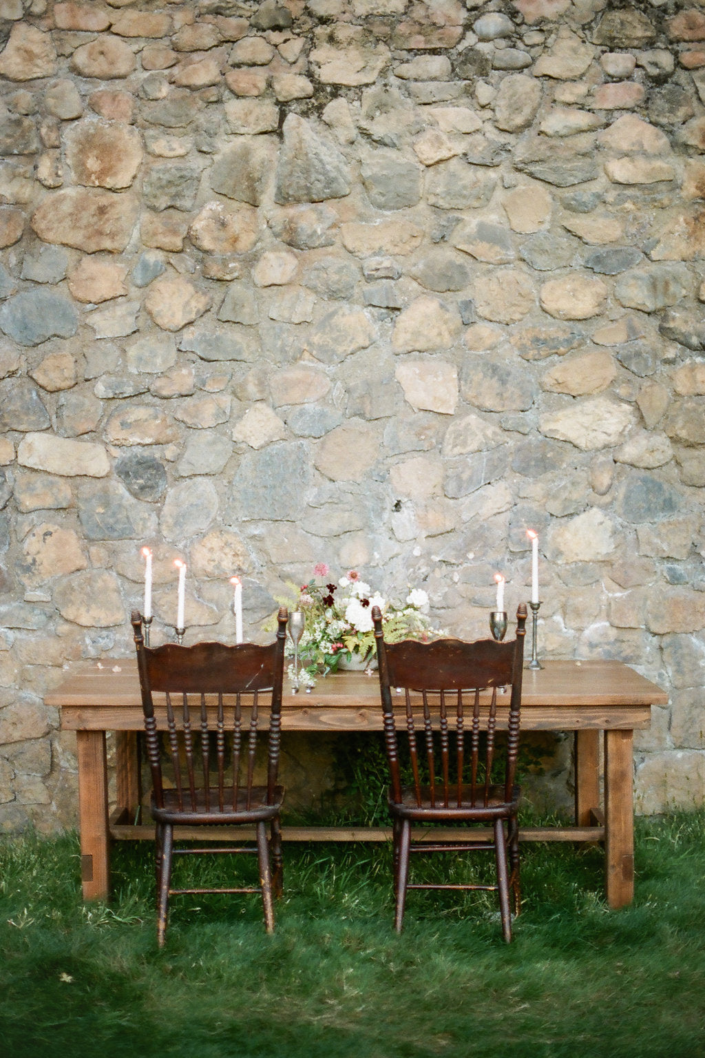 Antique chairs at beautiful table