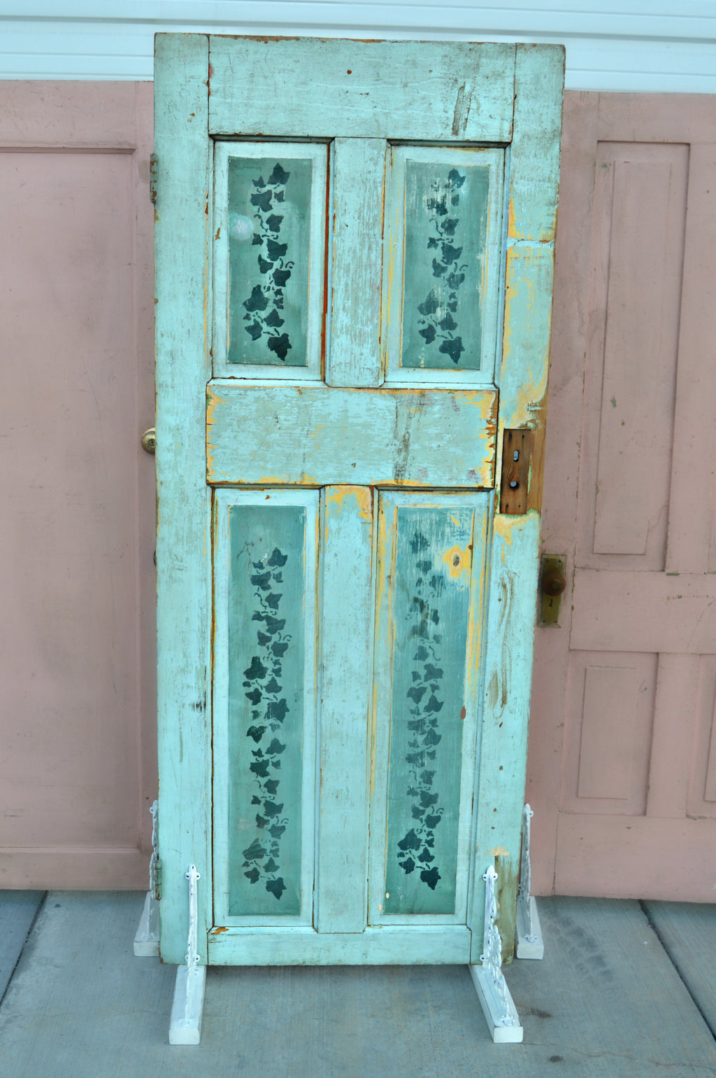Vintage green door, Alice in Wonderland style