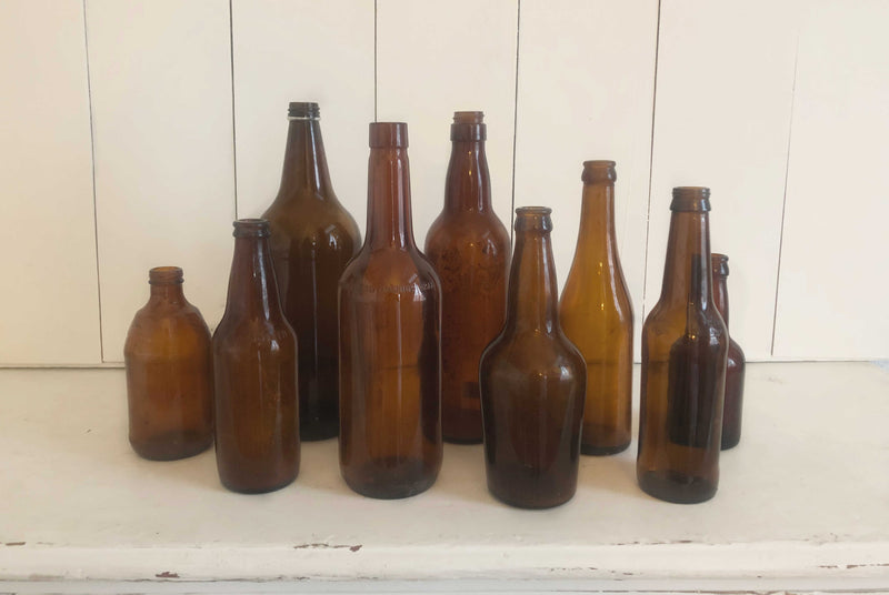 """Amber"" Apothecary Bottles (32)"