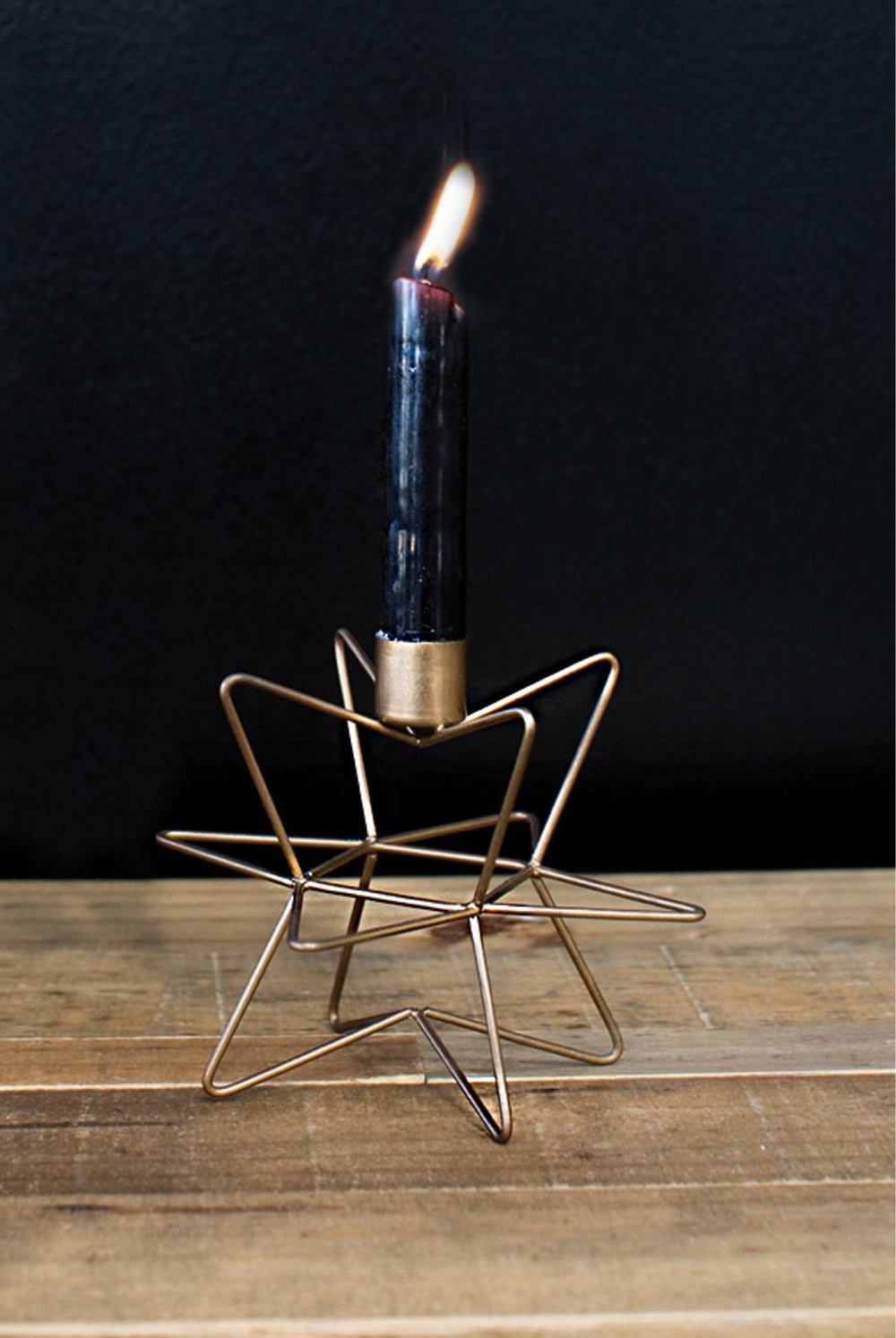 """Asteroid"" Geo Candlestick Holder 