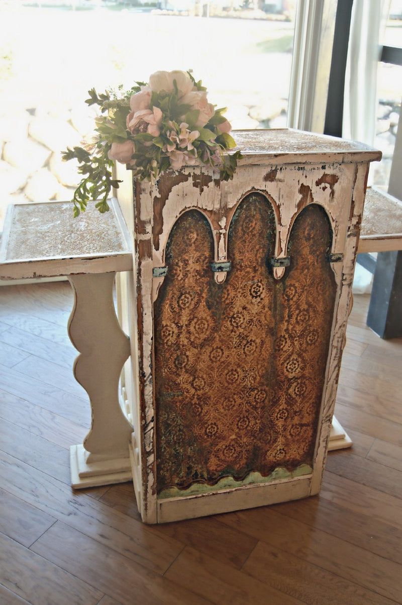 Victorian-styled wedding altar