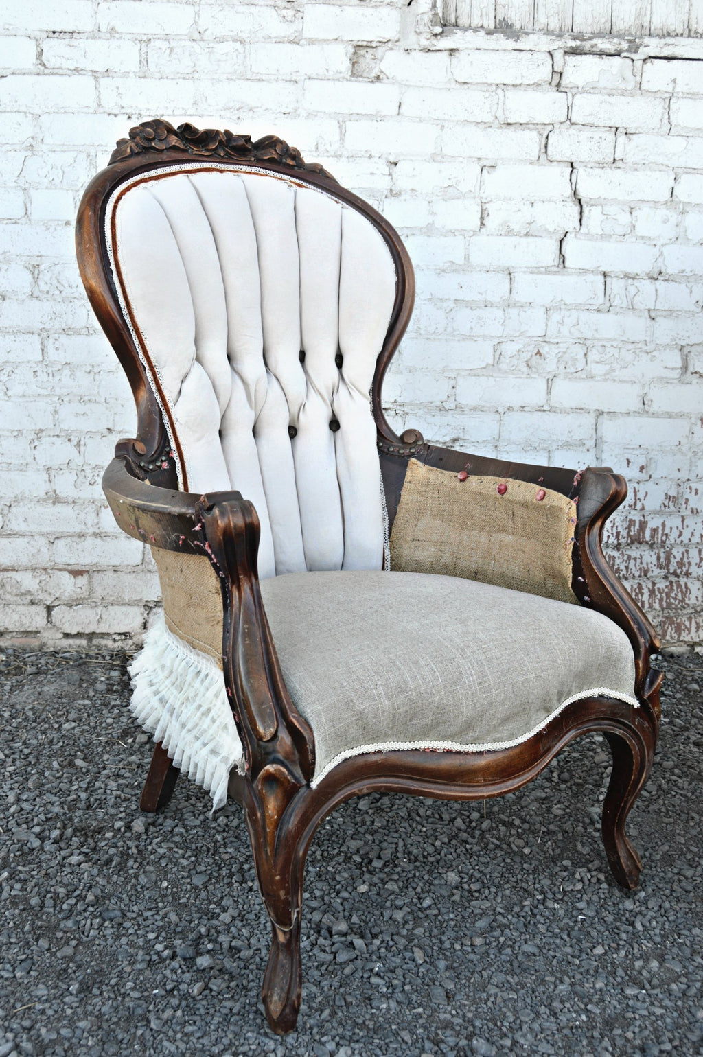 Shabby-chic deconstructed chair