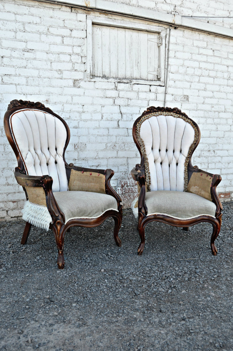 Shabby-chic deconstructed chairs