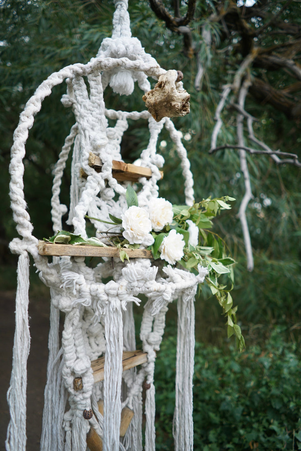 Decorative macrame hanging