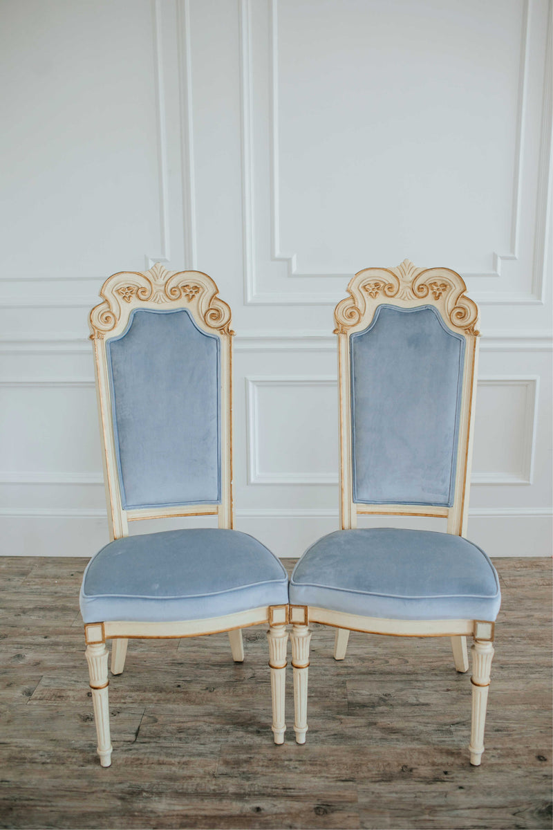 """Blue Moon"" Velvet Chairs 