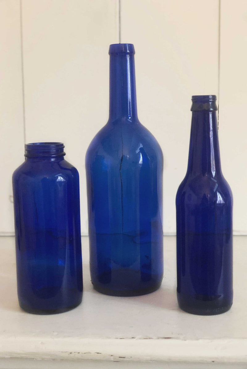 """Cobalt Blue"" Bottles 