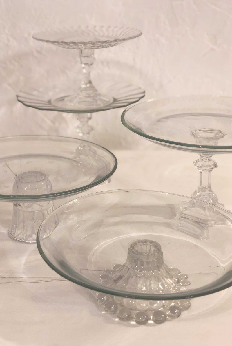 Glass Cake Stands | 6 for $35