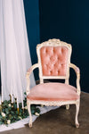 Velvet pink French chair
