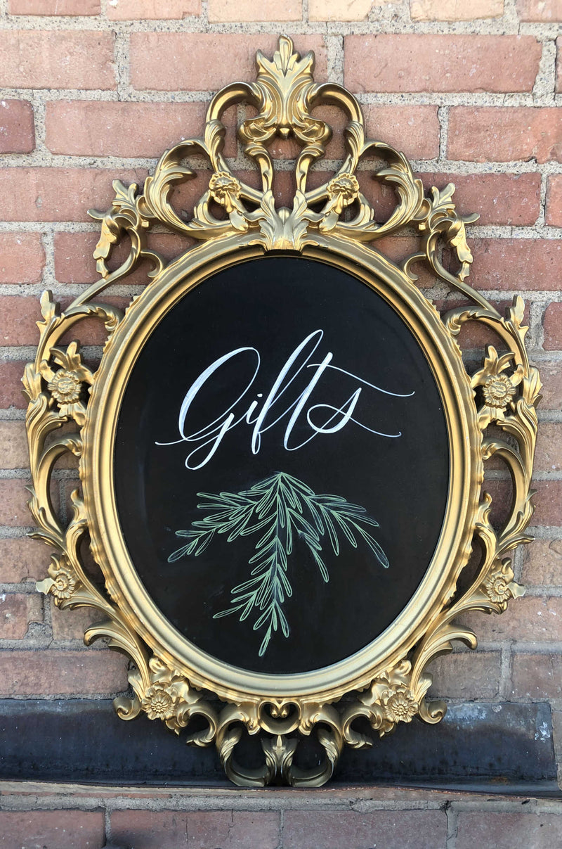 """Gifts"" Chalkboard Sign"