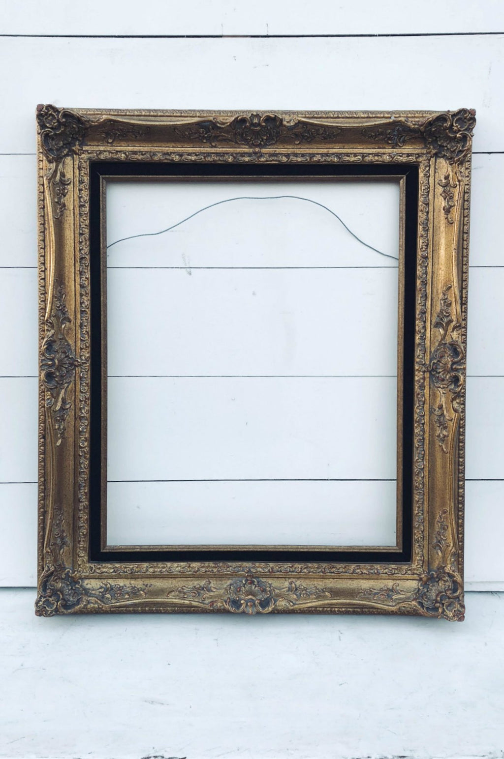 Vintage gold and black frame