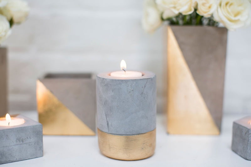 """Gravity"" Cement Candle Holders (96)"