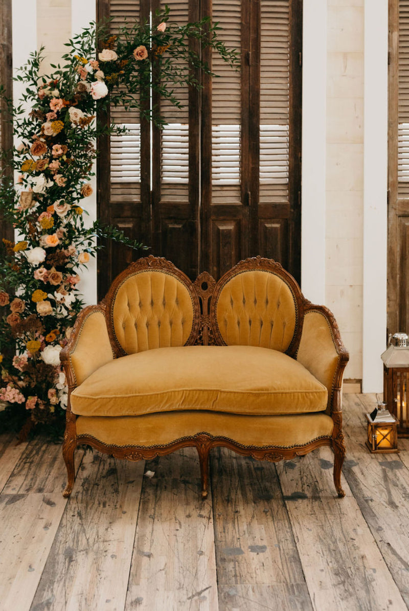 """Hello Dolly!"" Velvet Settee"