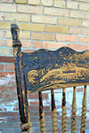 Antique decorative wooden chair