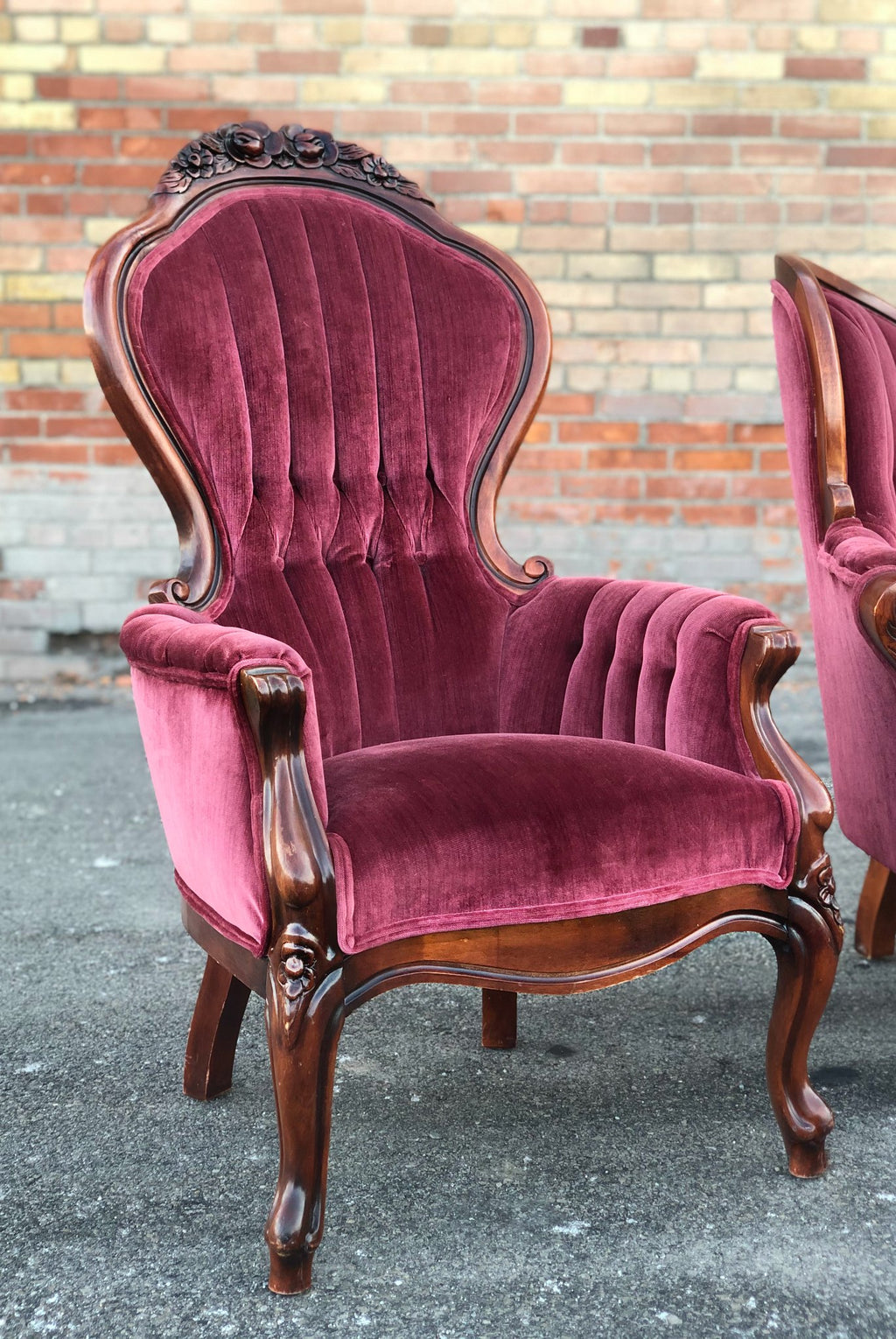 """I Love Lucy"" Red Velvet Chairs (2)"