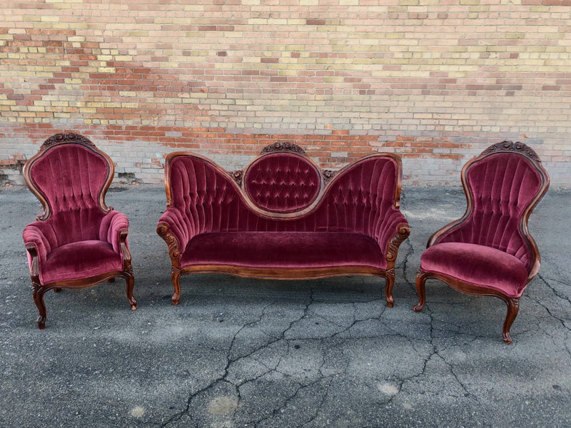 """I Love Lucy"" Red Velvet Chairs 