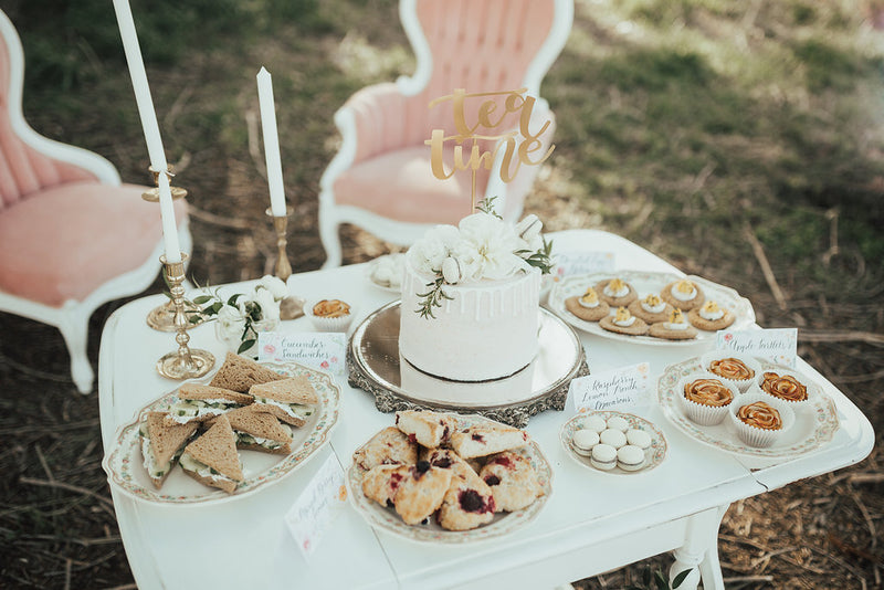 Tea party sweets and treats table