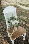 Vintage chairs for garden wedding