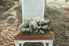 Vintage chairs for outdoor wedding