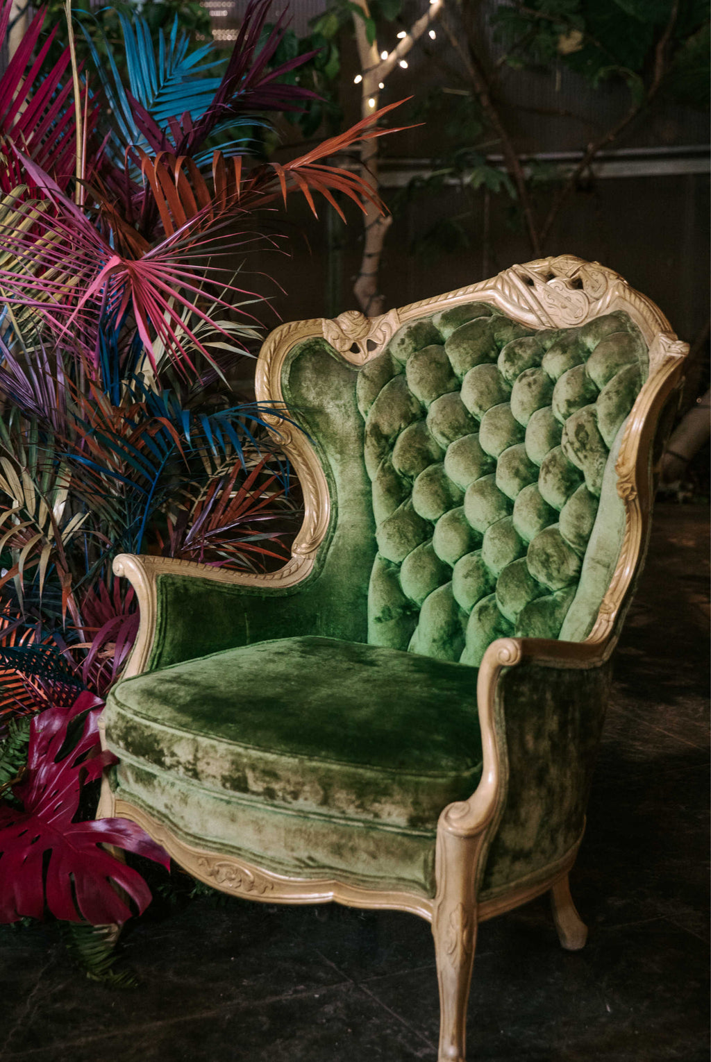 """L-O-V-E"" Green Chair"