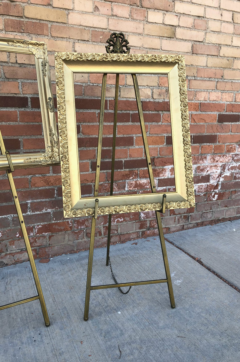 Bronze wedding rental easels