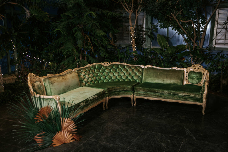 """L-O-V-E"" Green Sectional"