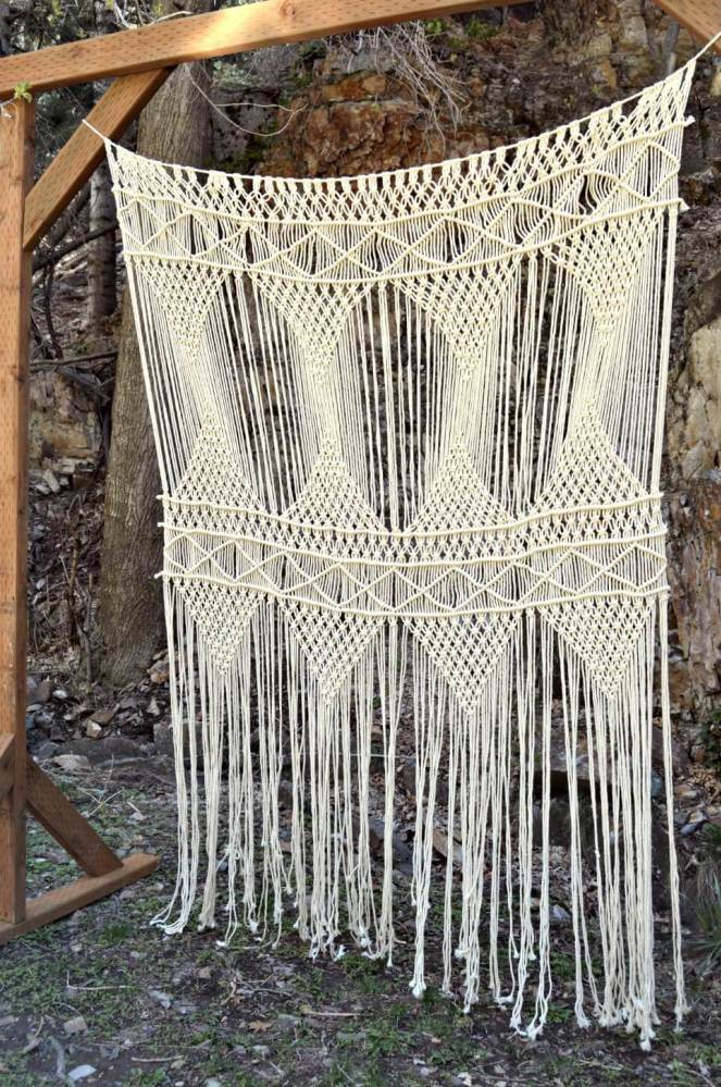 Bohemian macrame backdrop