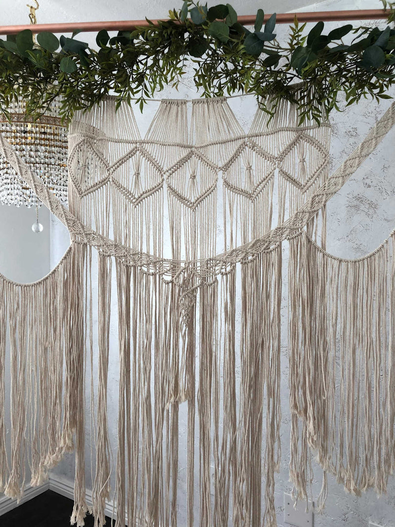 """Here Comes the Sun"" Macrame Backdrop"