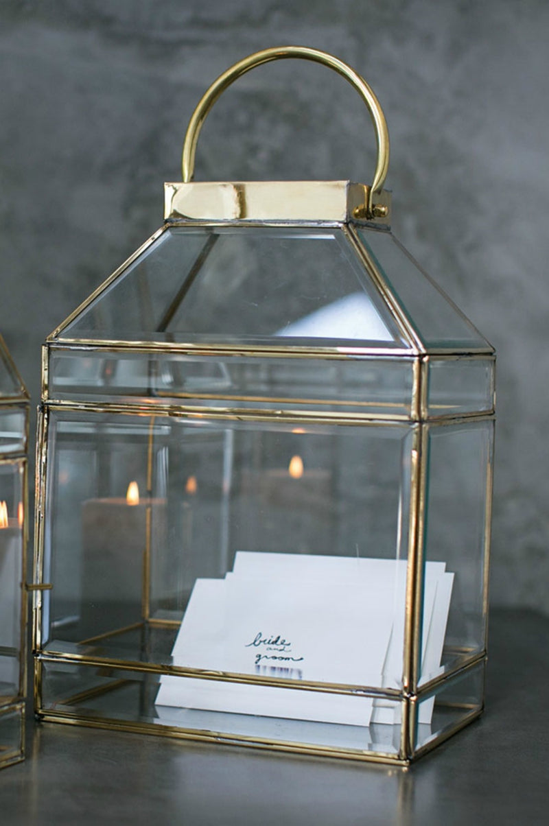 gold wedding card holder