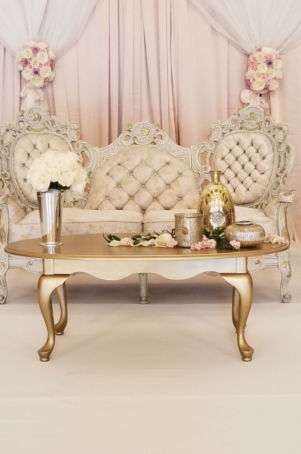 """Sixteen Candles"" Gold Coffee Table"