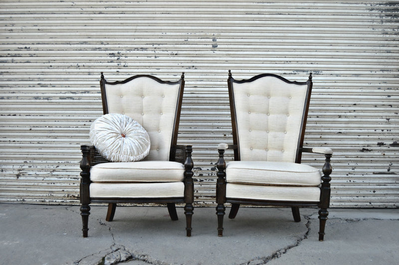 Cream Victorian chairs