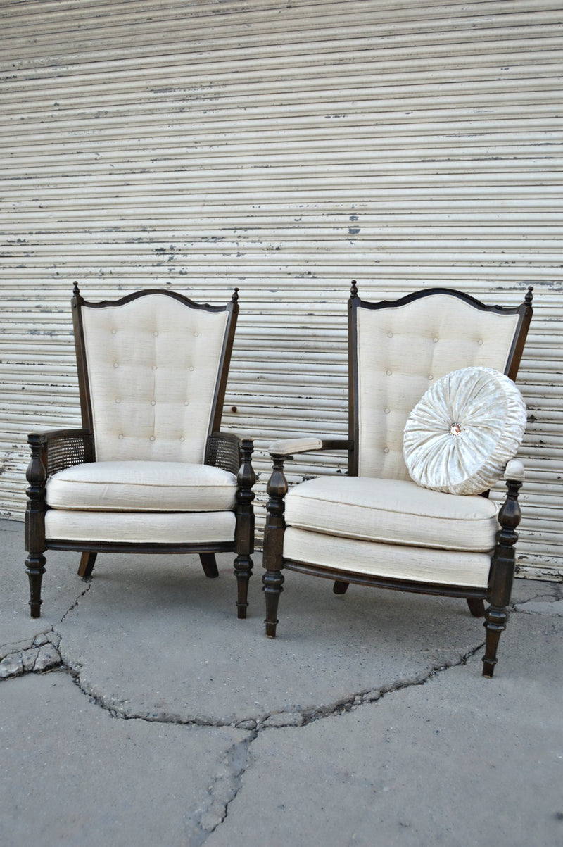 Vintage cream chairs