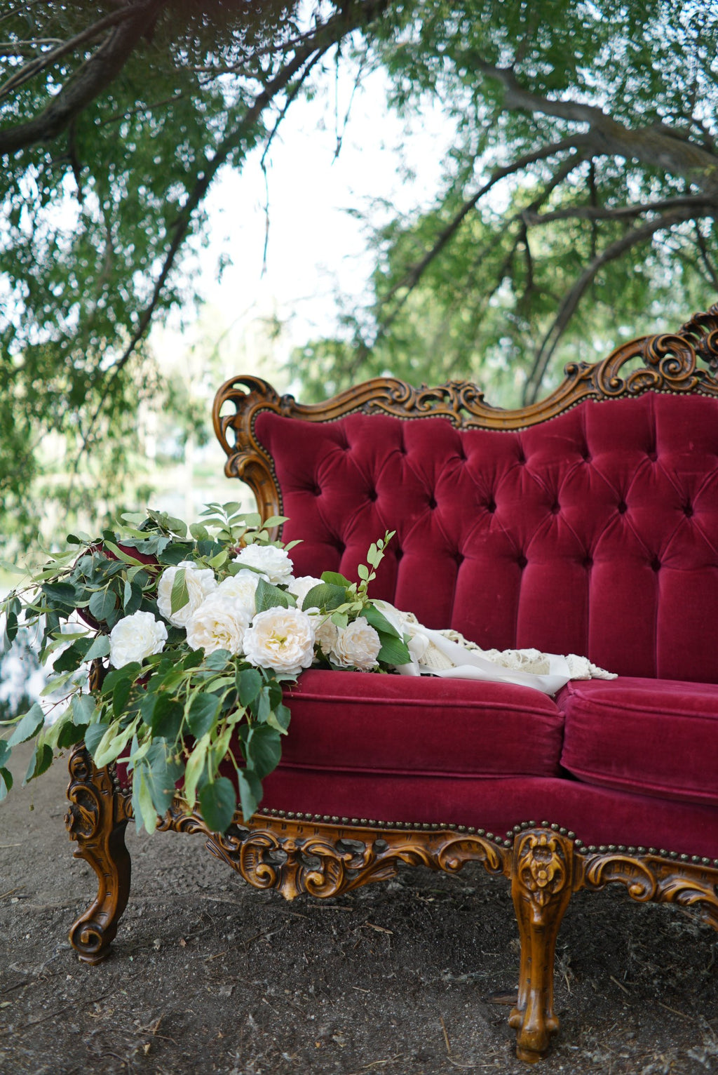 Red Victorian Sofa