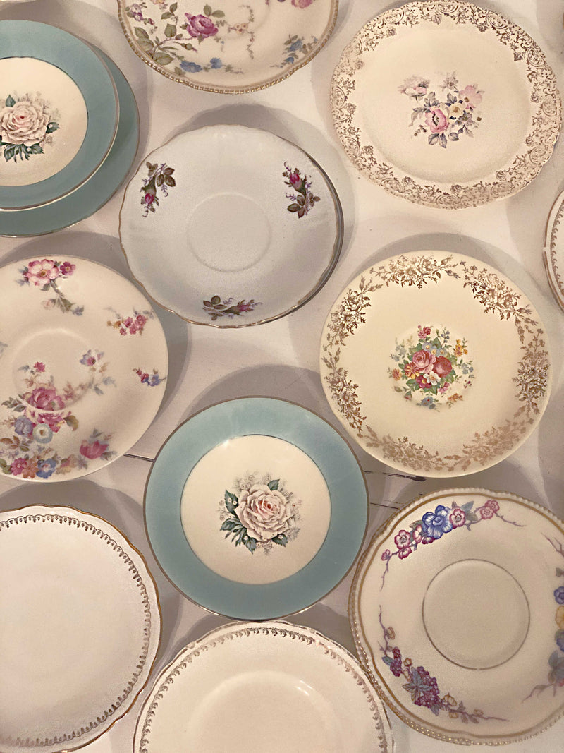 Vintage China Saucers | QTY 30