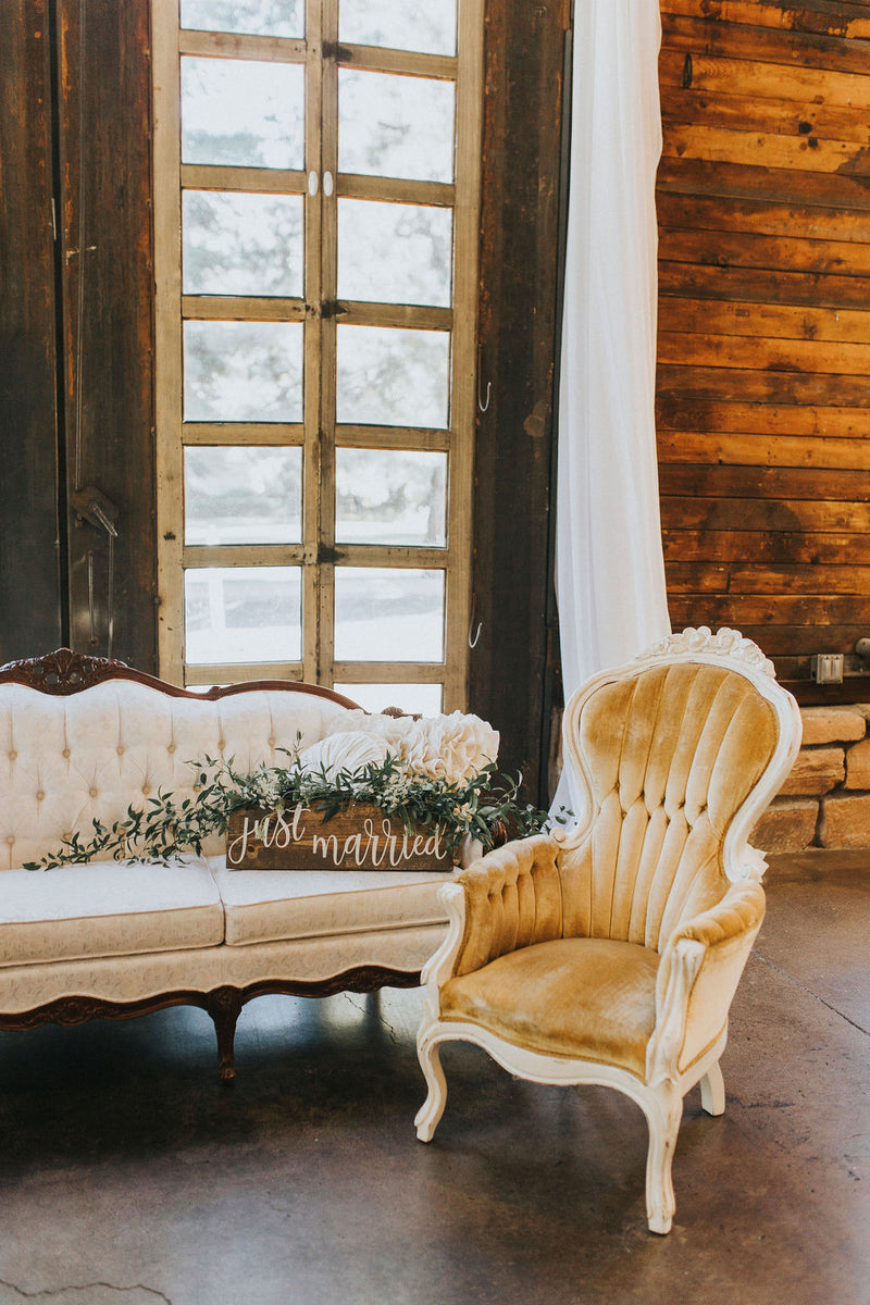 """Peaches & Cream"" Velvet Chairs 